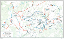 Bastogne showing US and enemy positions