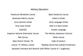 military-new-education