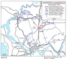 Map of Operation Courageous